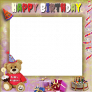 Create Your Birthday Photo Frame With Cute Teddy and Gifts Online. Sweet Teddy Wishes Happy Birthday Photo Frame Pics With Custom Photo. Best Wishes Photo Frame