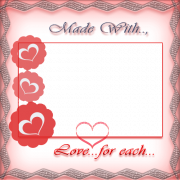 Personalize Made With Love For Each Other Photo Frame Online. Cute Love Frame With Your Photo and Name. Customize Beautiful Frame For Lovers With Photo Online