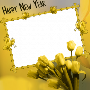 Create Happy New Year Wishes Photo Frame With Your Name
