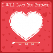 Edit Love You Forever Heart Frame With Custom Photo and Name