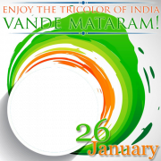 Create Republic of India Vande Mataram Frame With Your Photo. Generate Photo Frame For Republic Day. 26th January Special Photo Frame With Your Photo. Edit Frame