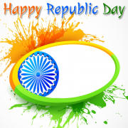 Indian Republic Day Celebration Frame With Custom Photo Pics Generator. Create Your Republic Frame With Name Online. Edit Custom Photo With Republic Celebration