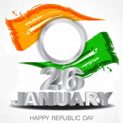Create Happy Republic Day Abstract Art Frame With Your Photo Online. Indian Flag Abstract Design Photo Frame With Name. Create Your Photo Pics For Republic Day
