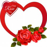Personalize Happy Rose Day Heart Shape Frame With Your Photo Online. Create Valentines Day Frame With Custom Photo. Generate Happy Rose Day Wishes Couple Heart