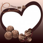 Happy Chocolate Day Photo Frame With Custom Name