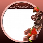 Delicious Chocolate Frame With Your Photo For Chocolate Day. Create Custom Love Frame For Valentine Day. Happy Chocolate Day Frame With Your Photo For Whatsapp DP