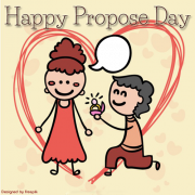Happy Propose Day Photo Frame With Your Photo on Greeting. Create Photo Greeting For Propose Day. Happy Propose Day Wishes Frame With Your Custom Picture