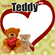 Happy Teddy Day Valentine Frame Generator For Love Couple. Create Teddy Day Couple Frame Online. Personalize Teddy Day Special Frame Online. Valentine Greetings