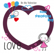 Happy Propose Day Photo Frame With Custom Pics Maker. Beautiful Love Couple Propose Frame With Your Photo. Create Valentine Day Celebration Frame Online for DP