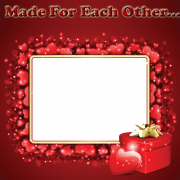 Beautiful Love Frame With Red Hearts and Your Photo. Online Photo Frame Maker For Love Couple. Personalize Love Greeting With Custom Photo. Whatsapp DP With Photo