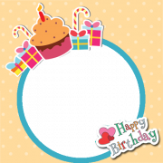 Happy Birthday Frame With Cup Cake and Your Photo. Create Birthday Wishes Photo Frame Online. Personalize Bday Photo Frame Online With Name. Create Photo Frame Pic