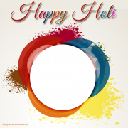 Happy Holi Festival New Colorful Frame With Your Photo. Create Holi Photo Frame Online. Personalized Holi Greeting With Your Photo. MyPhoto Frame Maker For DP Pics