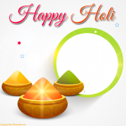 Beautiful Holi Photo Frame With Custom Photo For Profile Pics. Create Your Photo Profile Pics For Holi Festival. Happy Holi Frame With Your Photo Maker