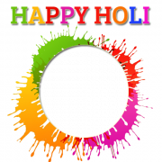 Holi Festival Nice Photo Frame With Your Photo For Whatsapp Profile Pics. Create Holi Photo Frame Online. Personalize Holi Greeting With Your Photo. Holi DP Pics