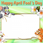 Tom and Jerry Frames For April Fool Greeting With Your Photo. Create April Fool Frame Greeting With Custom Photo. Personalize April Fool Greeting Online