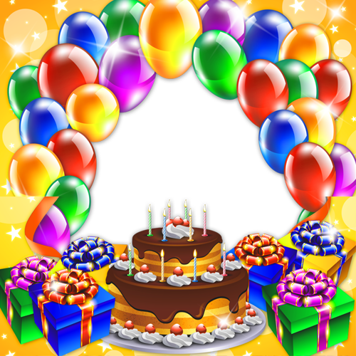 Create birthday frame with custom photo and your name m4hsunfo